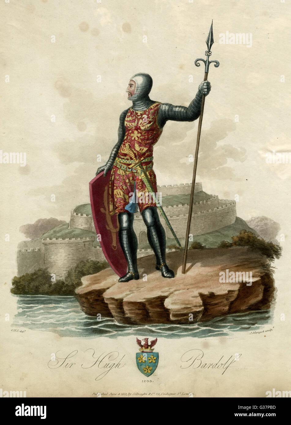HUGH BARDOLF  Justiciar of the Curia Regis        Date:     - 1203 - Stock Image