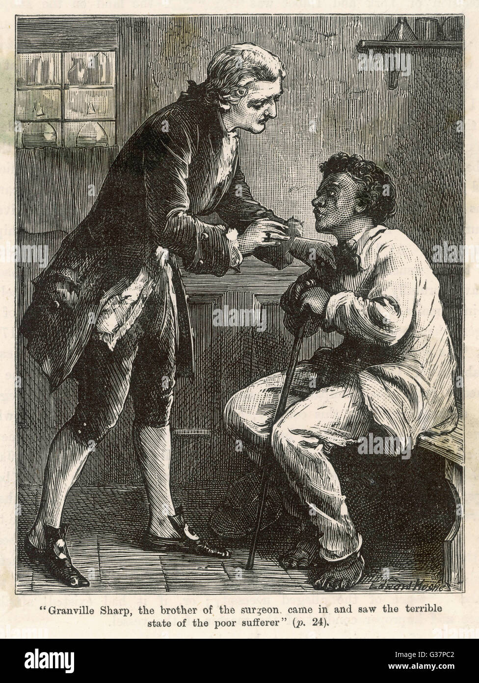 Granville Sharp takes up the  cause of black slaves         Date: 1765 - Stock Image