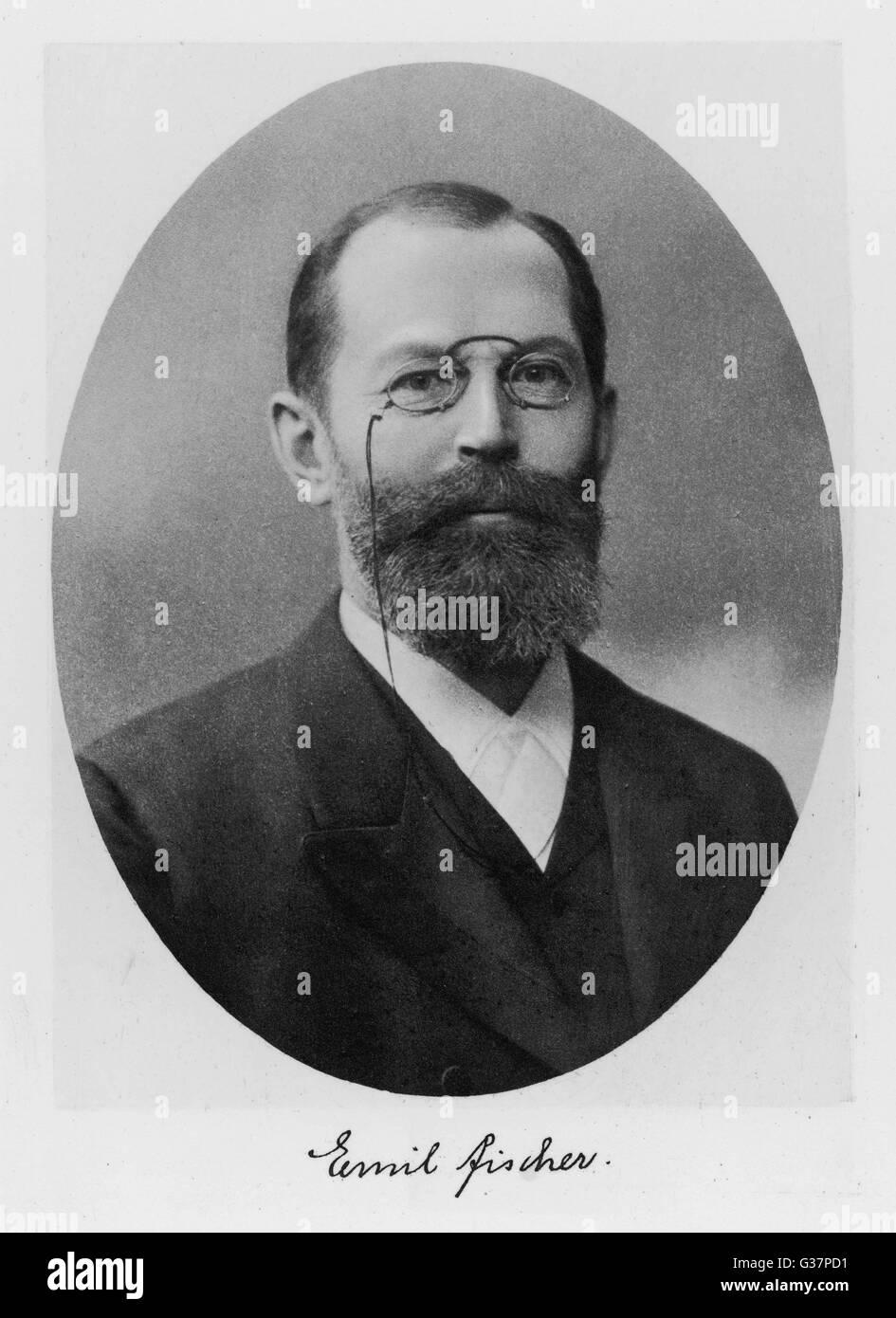 EMIL FISCHER -  German chemist        Date:  1852 - 1919 - Stock Image