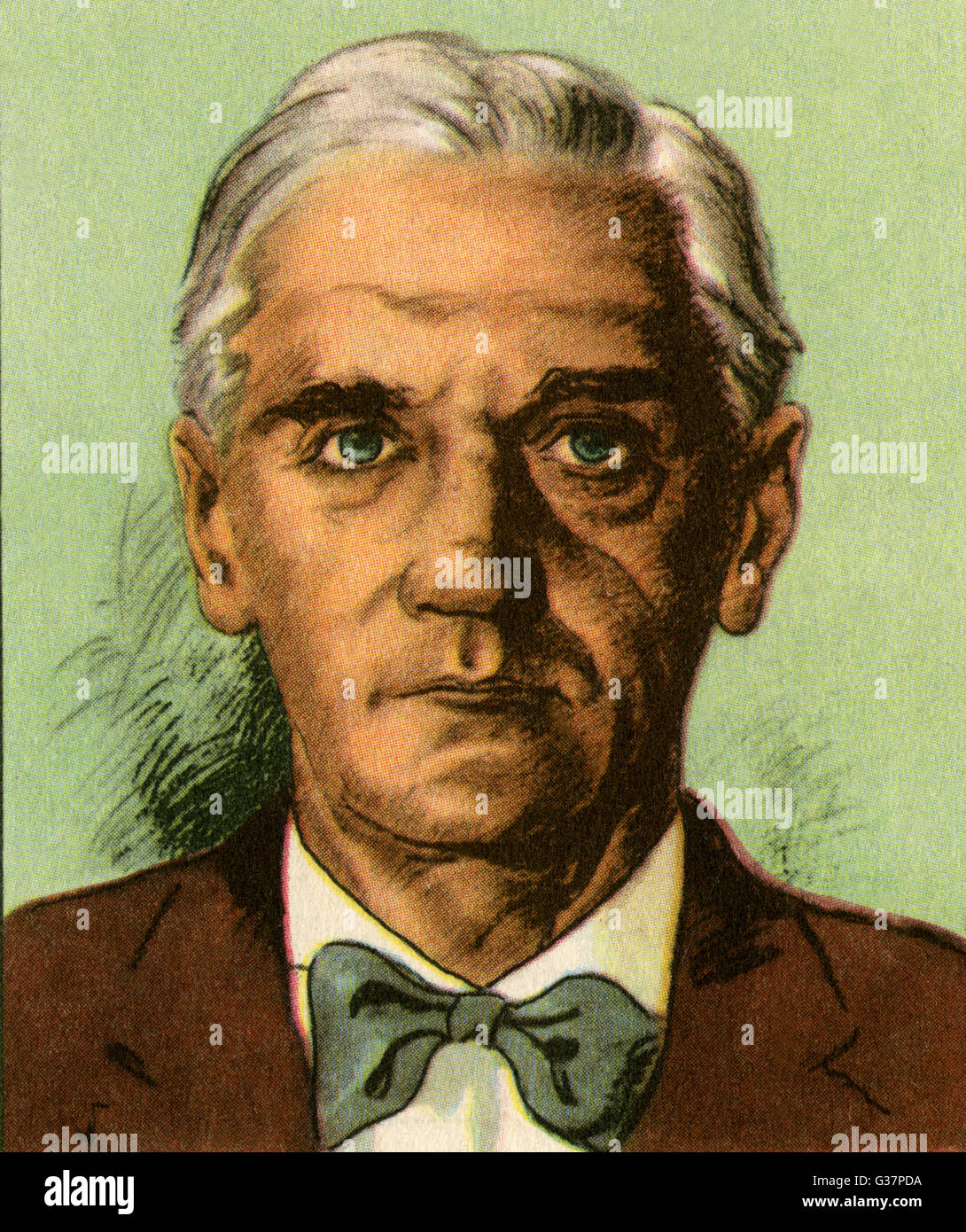 SIR ALEXANDER FLEMING -  British medical scientist and  bacteriologist.       Date: 1881 - 1955 - Stock Image