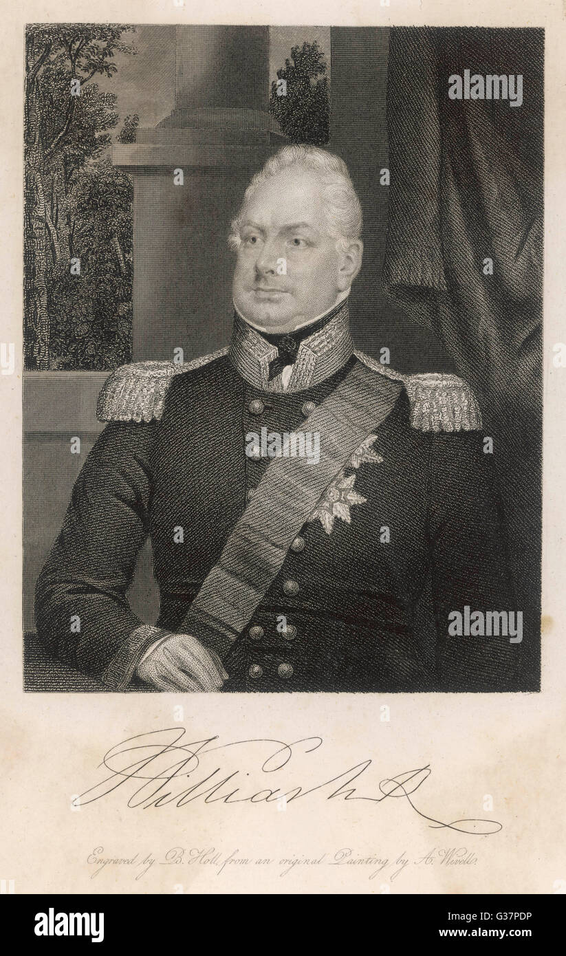 WILLIAM IV KING OF ENGLAND         Date: 1765 - 1837 - Stock Image