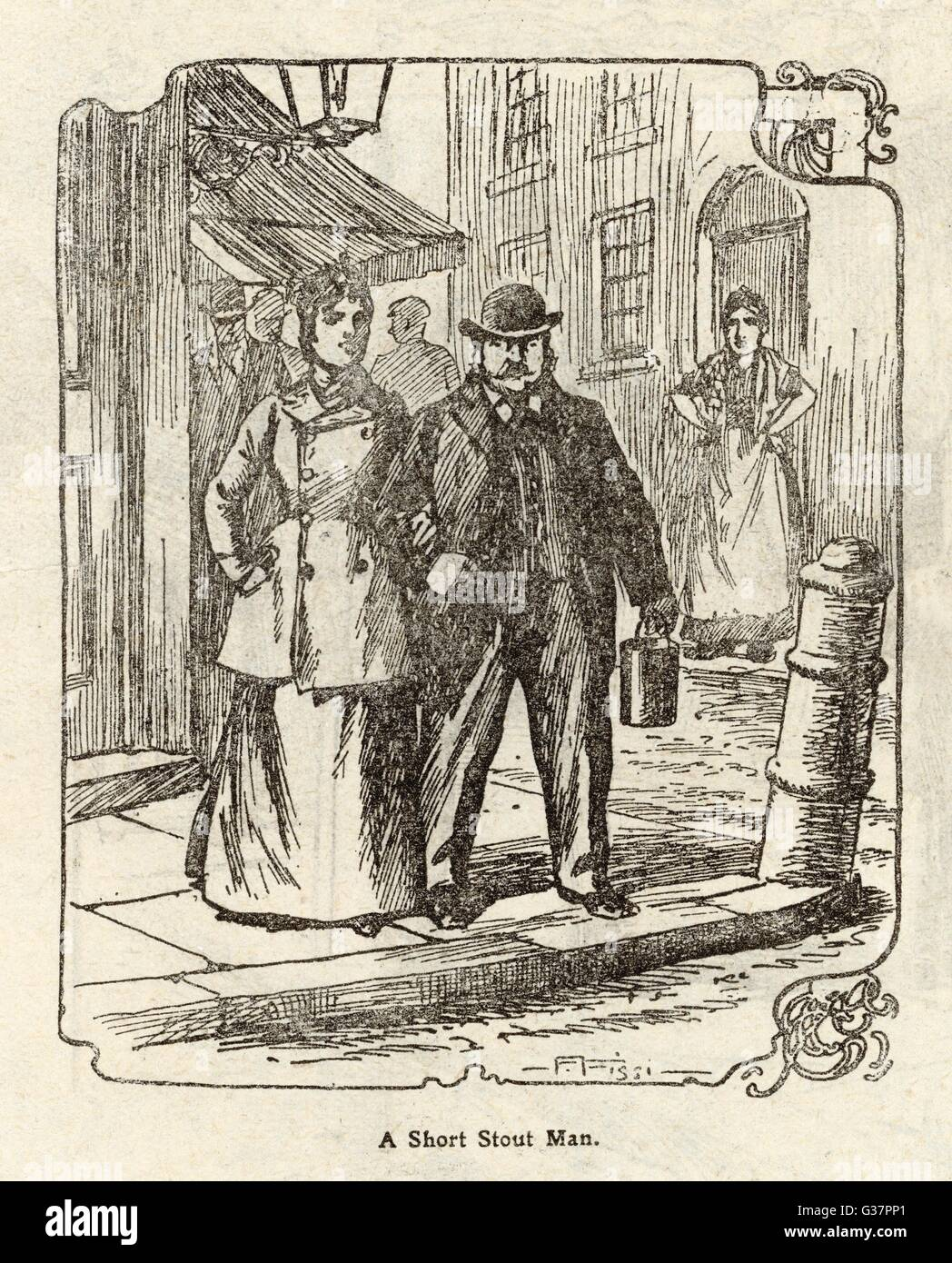 The consensus description  offered by possible eye- witnesses suggests that the  Ripper was 'a short stout man' - Stock Image