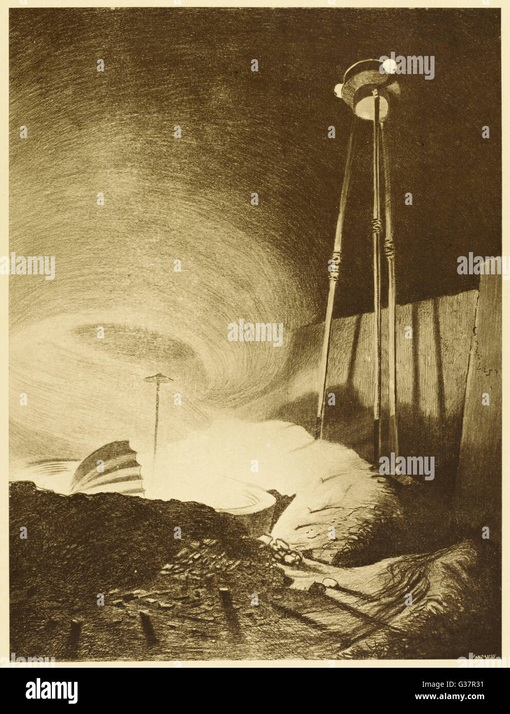 'THE WAR OF THE WORLDS'  A Martian 'Fighting-Machine'        Date: First published: 1898 - Stock Image