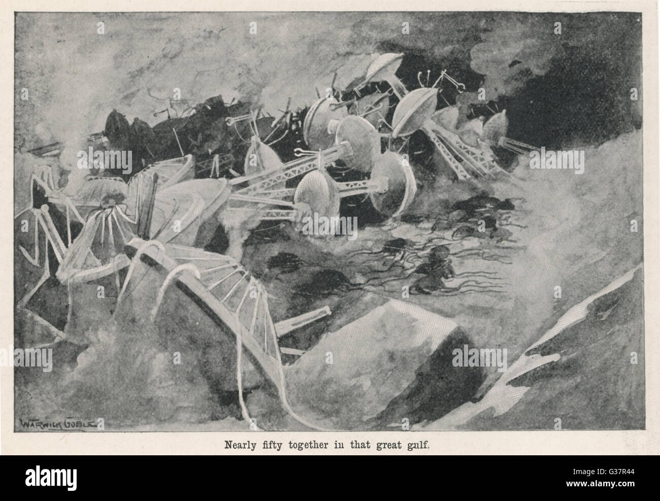 'THE WAR OF THE WORLDS'  The end of the Martian  invasion       Date: 1897 - Stock Image
