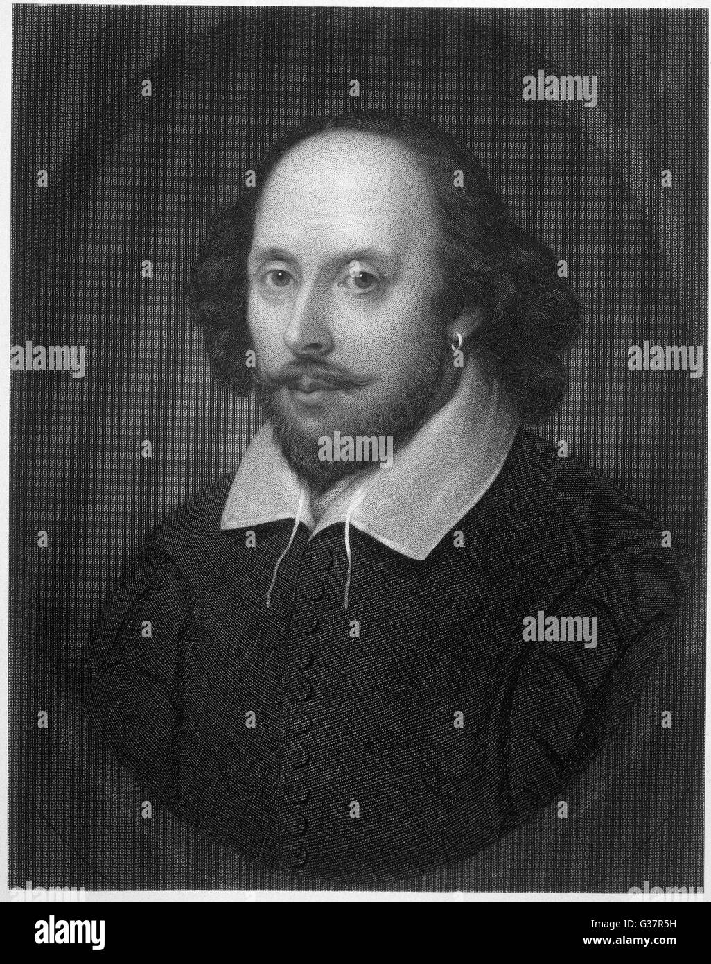William Shakespeare (1564-1616) Playwright and poet. - Stock Image
