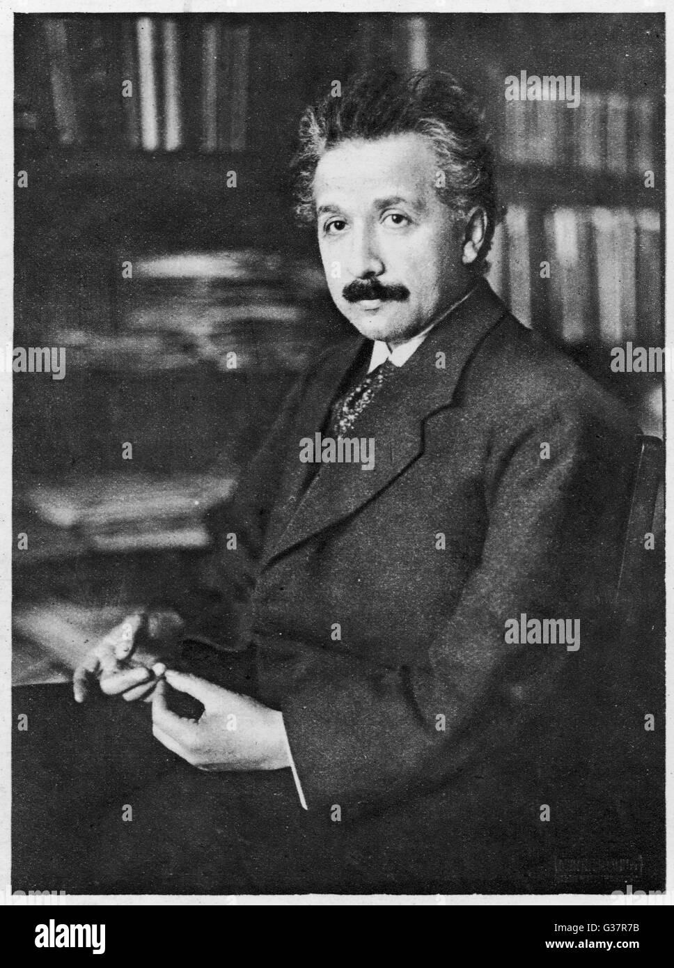 ALBERT EINSTEIN  German Scientist.        Date: 1879 - 1955 Stock Photo