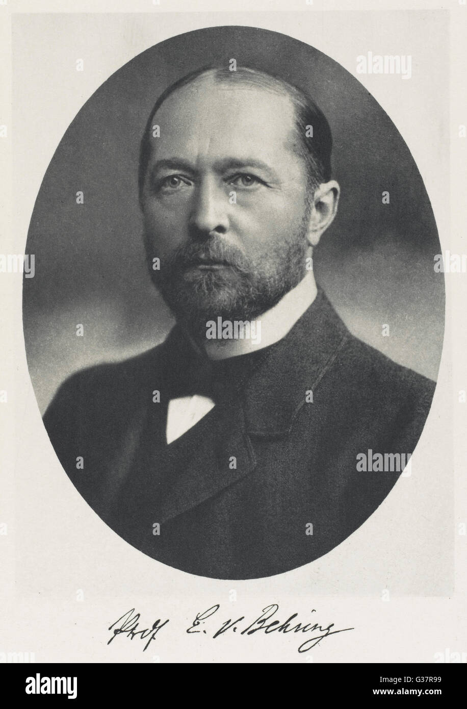 EMIL ADOLF VON BEHRING  German bacteriologist who won Nobel prize for  physiology or medicine in 1901      Date: - Stock Image