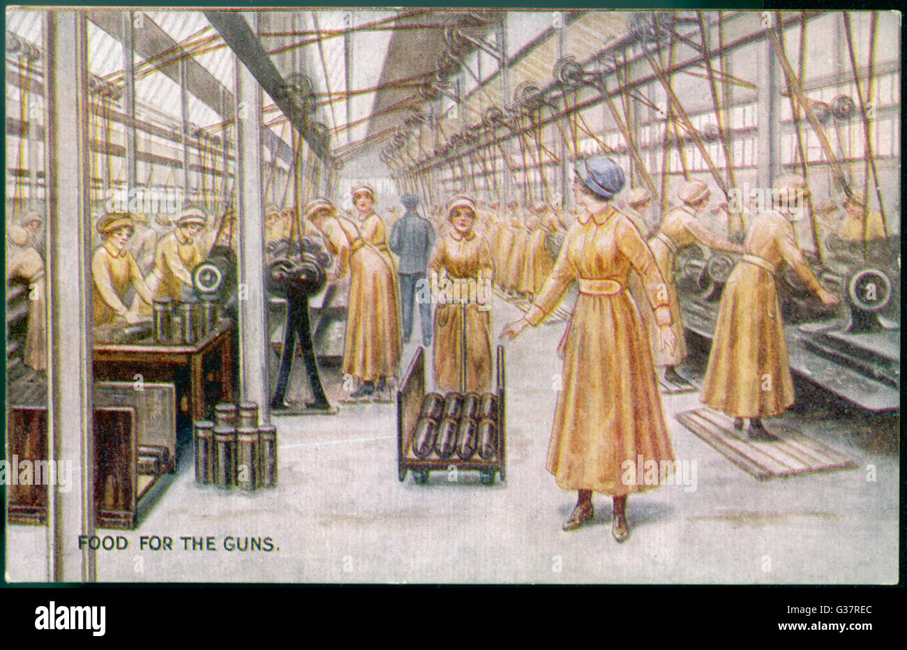 BRITISH WOMEN IN WWIIMUNITIONS FACTORY SHELLS PHOTO REAL CANVASART PRINT
