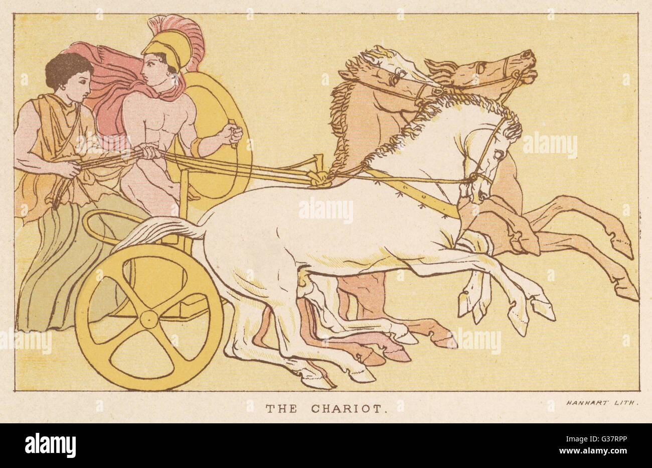 Greek warriors in a chariot          Date: 5th century BC - Stock Image