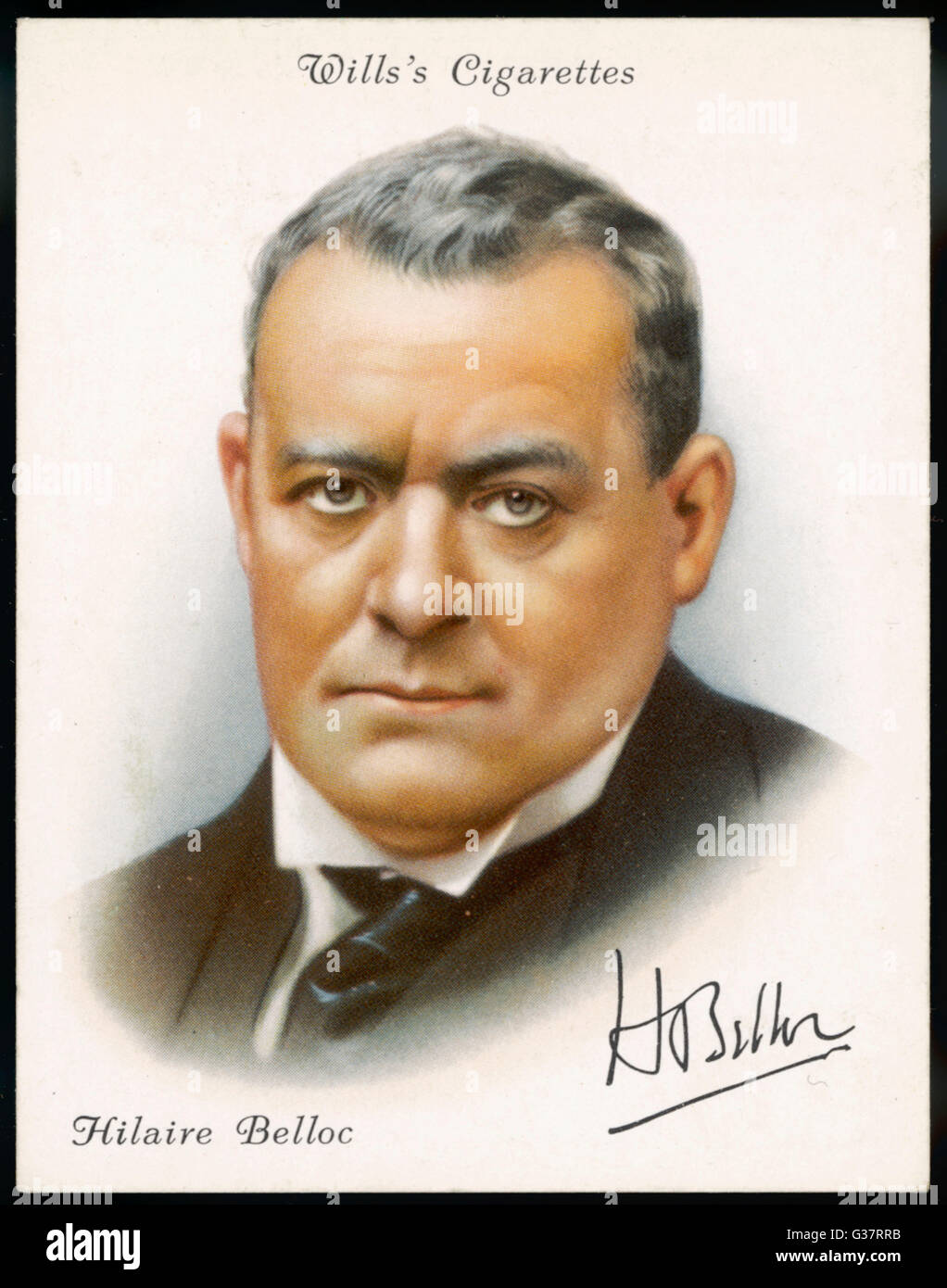 HILAIRE BELLOC  English author in 1936        Date: 1870-1953 - Stock Image