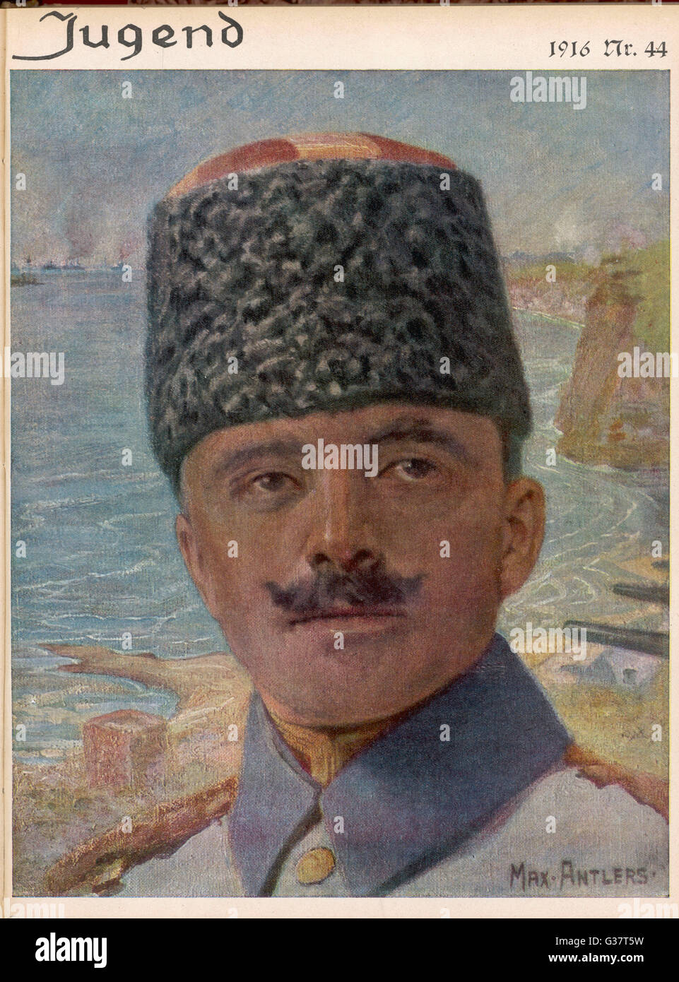 ENVER PASHA  Turkish Soldier and Leader of  Young Turks. Killed in battle  with Soviets.      Date: 1881 - 1922 - Stock Image