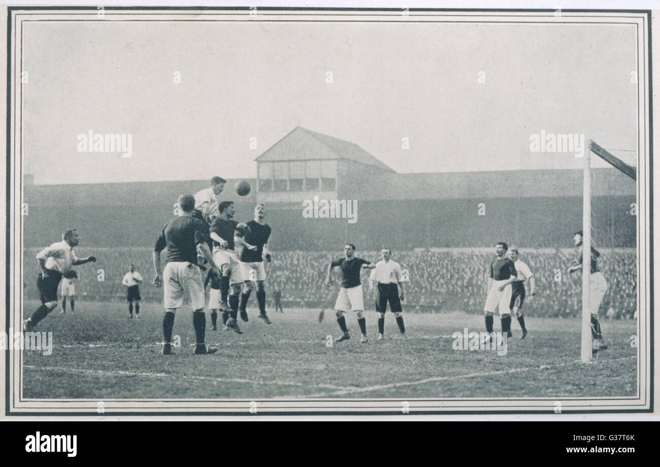 ENGLAND v SCOTLAND   Goalmouth action during  Scotland's 2-1 win at Bramall Lane, Sheffield      Date: 1903 - Stock Image
