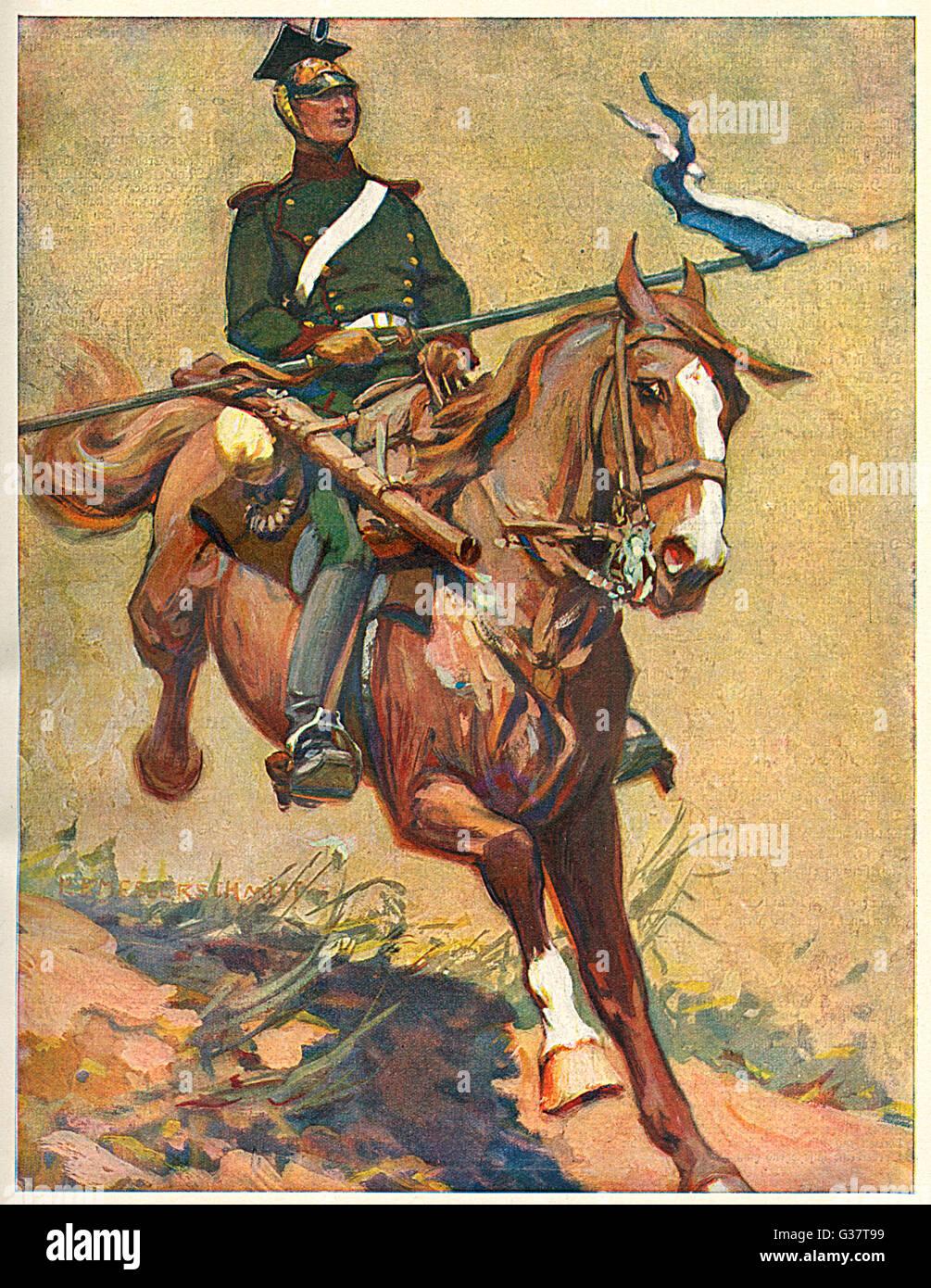 BAYRISCHER ULAN (Bavarian Uhlan)         Date: 1914 - Stock Image
