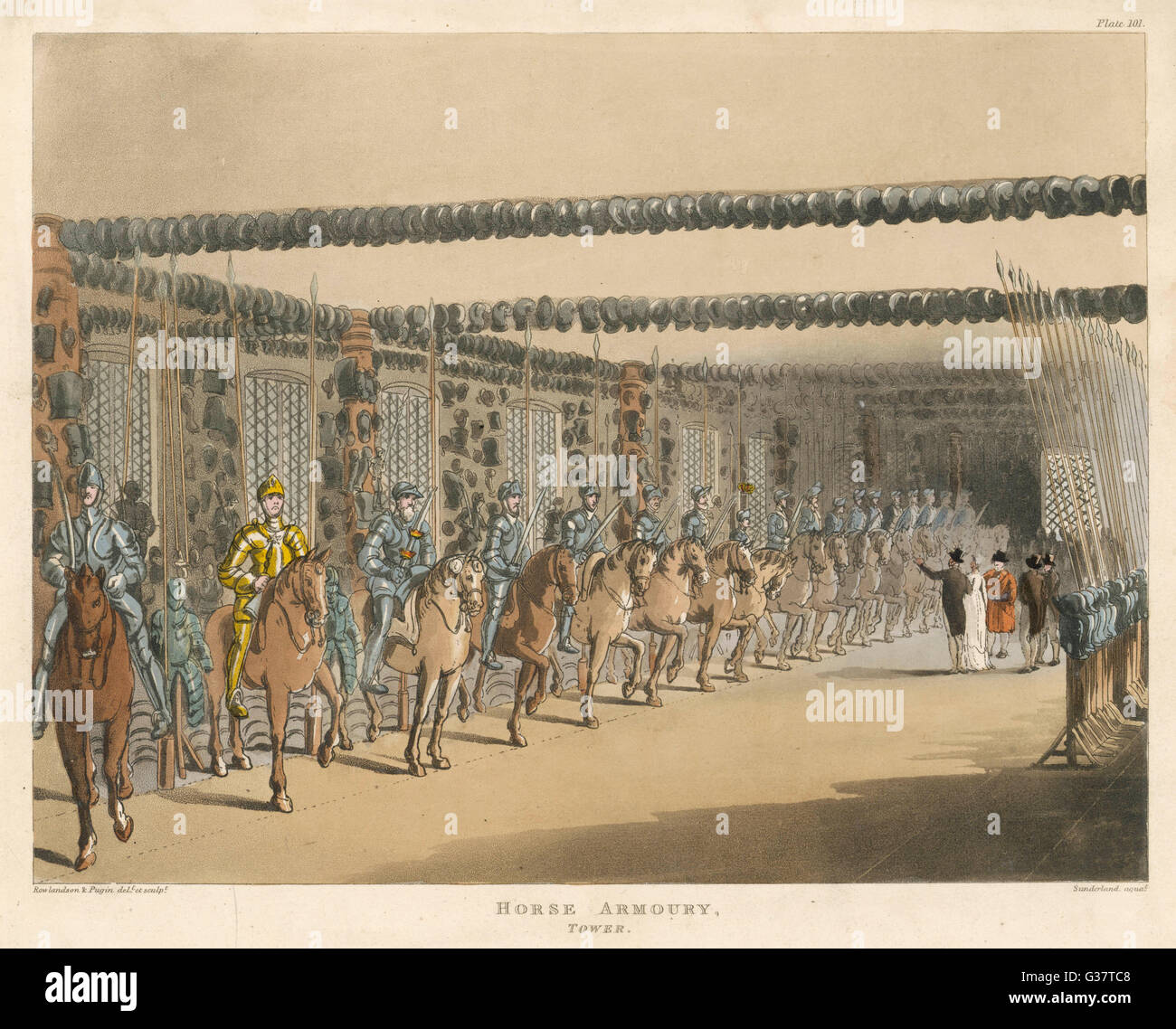 The Great Horse Armoury          Date: 1809 - Stock Image