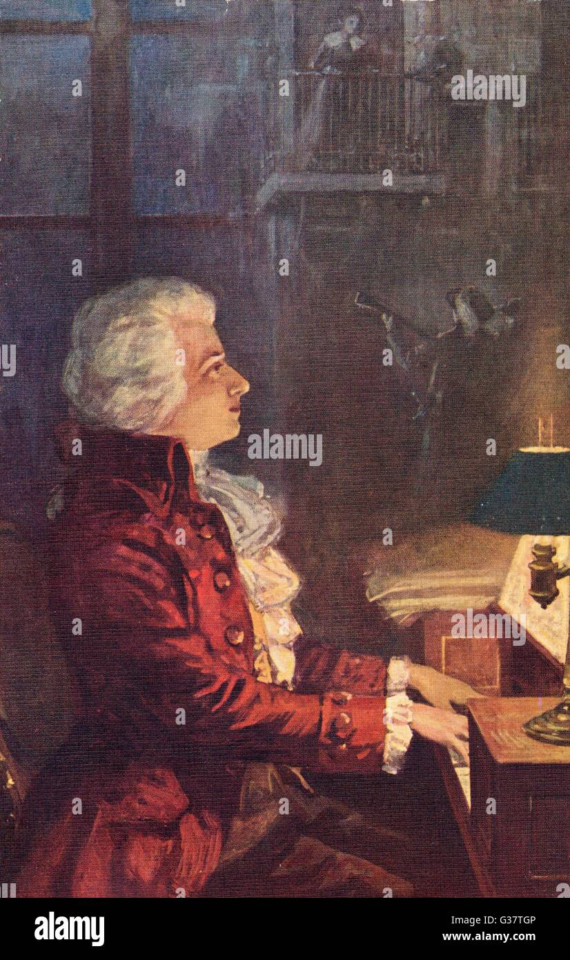 WOLFGANG AMADEUS MOZART  Austrian composer        Date: 1756 - 1791 - Stock Image