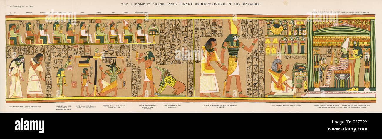 Judgement of the dead before Osiris in the Underworld ...  Judgement Before Osiris