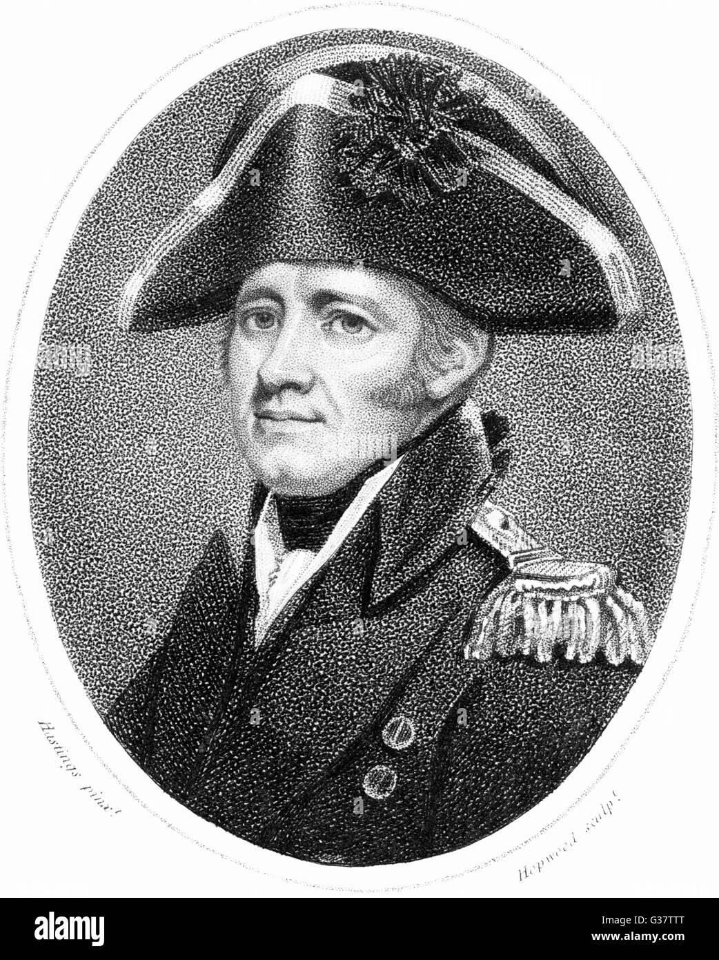 SIR HOME RIGGS POPHAM -  British sailor.        Date:  1762 - 1820 Stock Photo