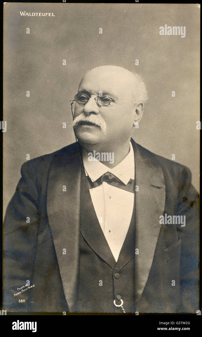 EMIL WALDTEUFEL  French composer        Date: 1837 - 1915 - Stock Image