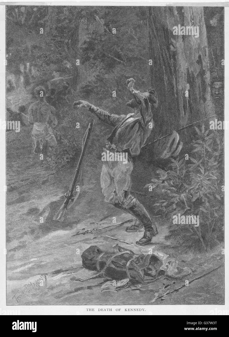 EDMUND KENNEDY, explorer, is  killed by aboriginals         Date: 1848 - Stock Image