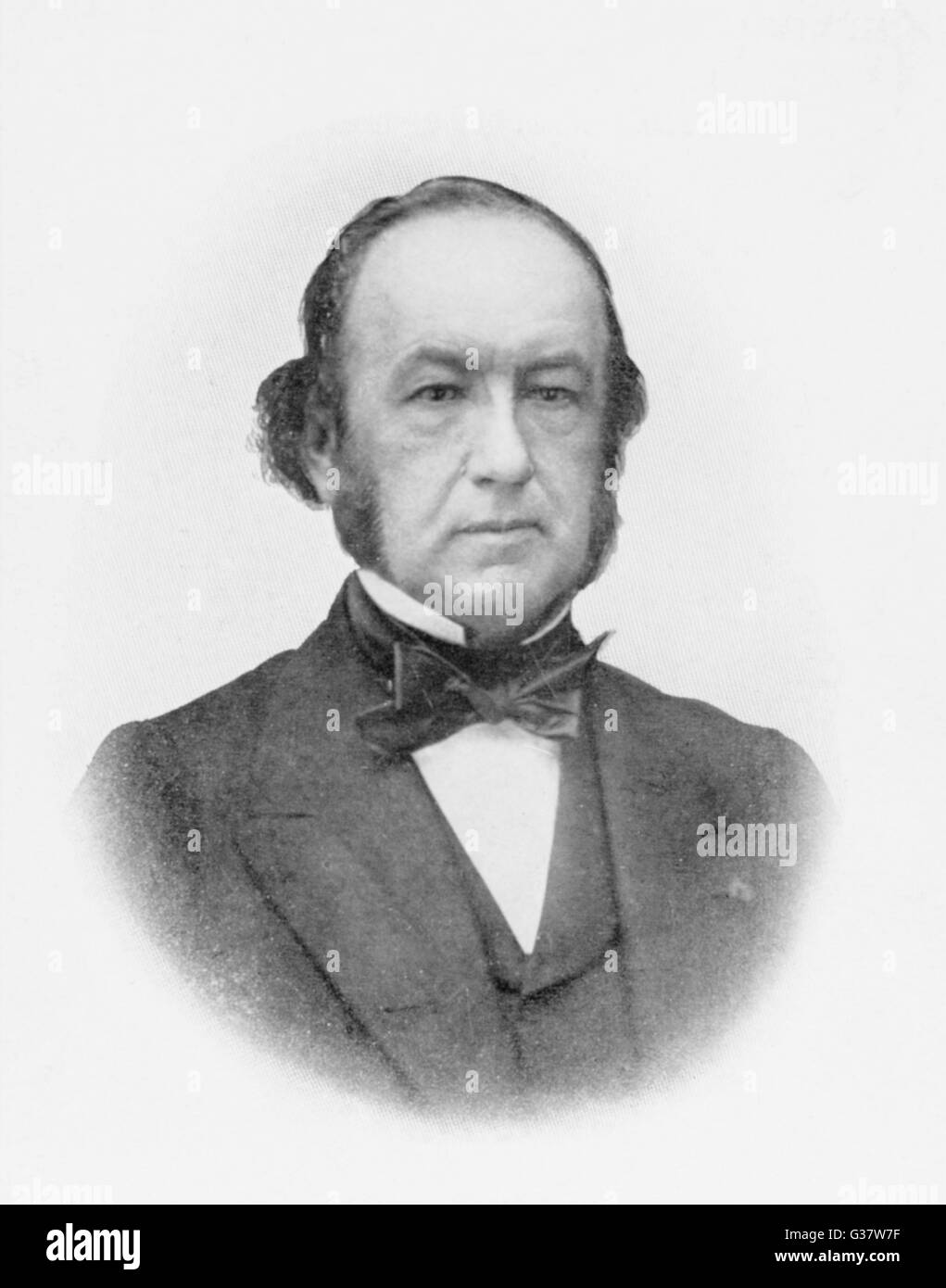 CLAUDE BERNARD  French physiologist who  investigated the chemical  phenomena of digestion      Date: 1813 - 1878 - Stock Image