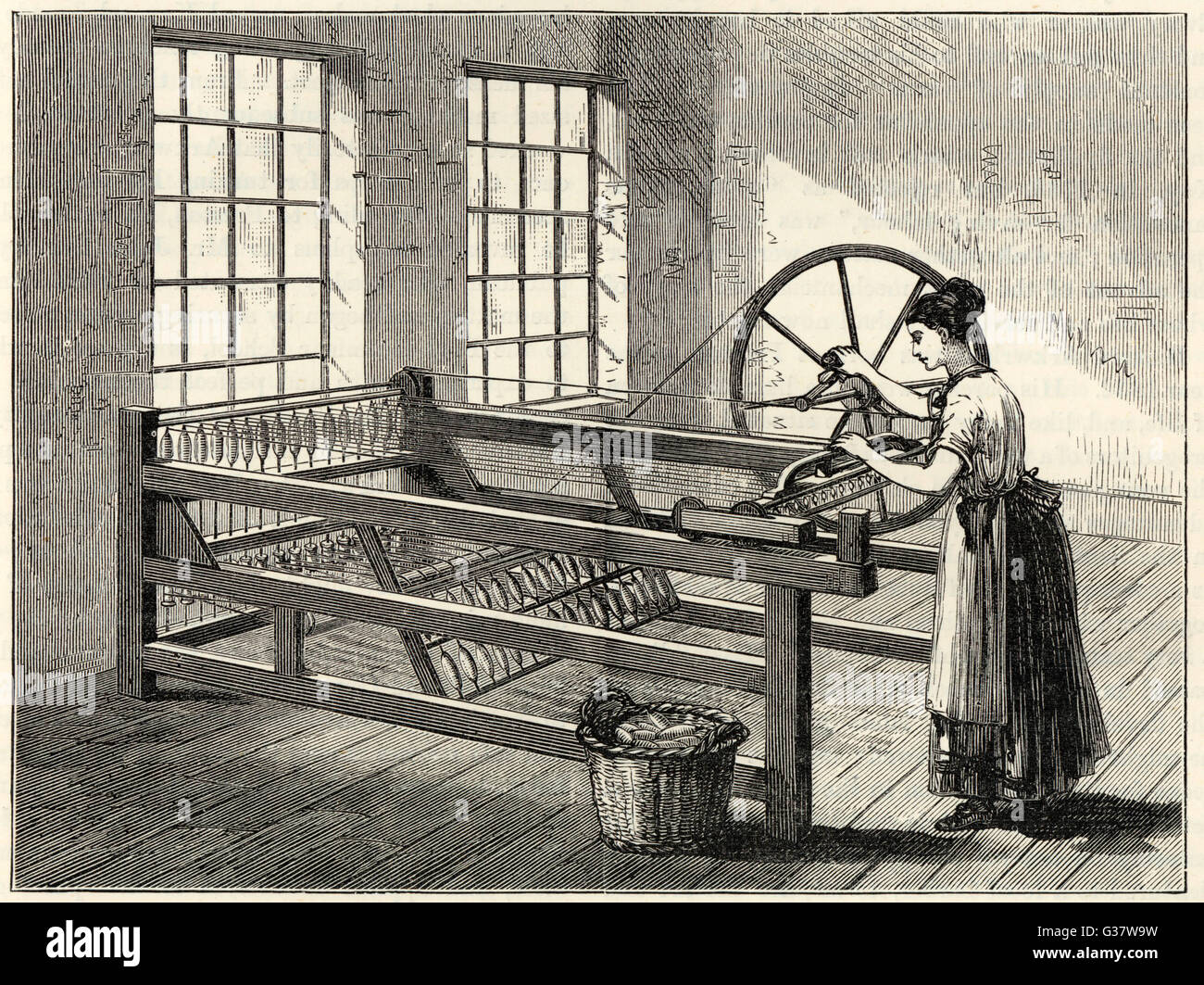 HARGREAVES' SPINNING JENNY James Hargreaves in 1767 invented this jenny  which could spin 8 bobbins at once ; later this was increased to 16 Date:  1767