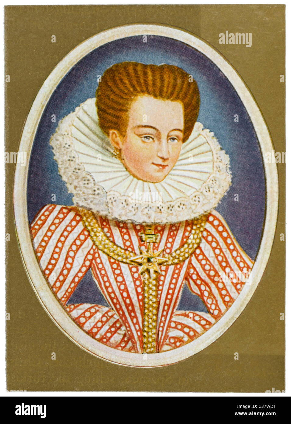 GABRIELLE ESTREES  Mistress of Henri IV.         Date: 1573 - 1599 - Stock Image
