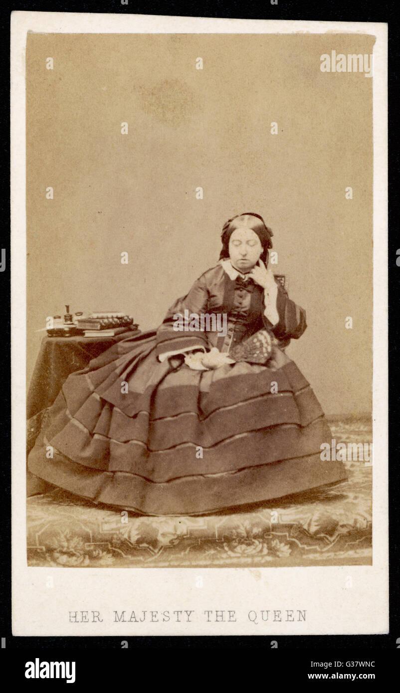 QUEEN VICTORIA  Photographed circa 1862        Date: 1819 - 1901 Stock Photo