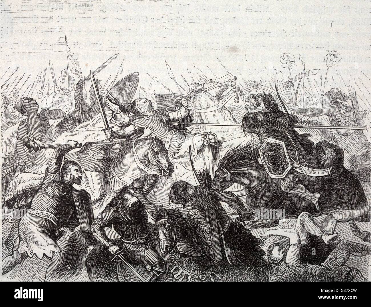 GERMANY / HUNGARY The Mongol armies invade  Eastern Europe and inflict  serious losses on the German  nobles at - Stock Image