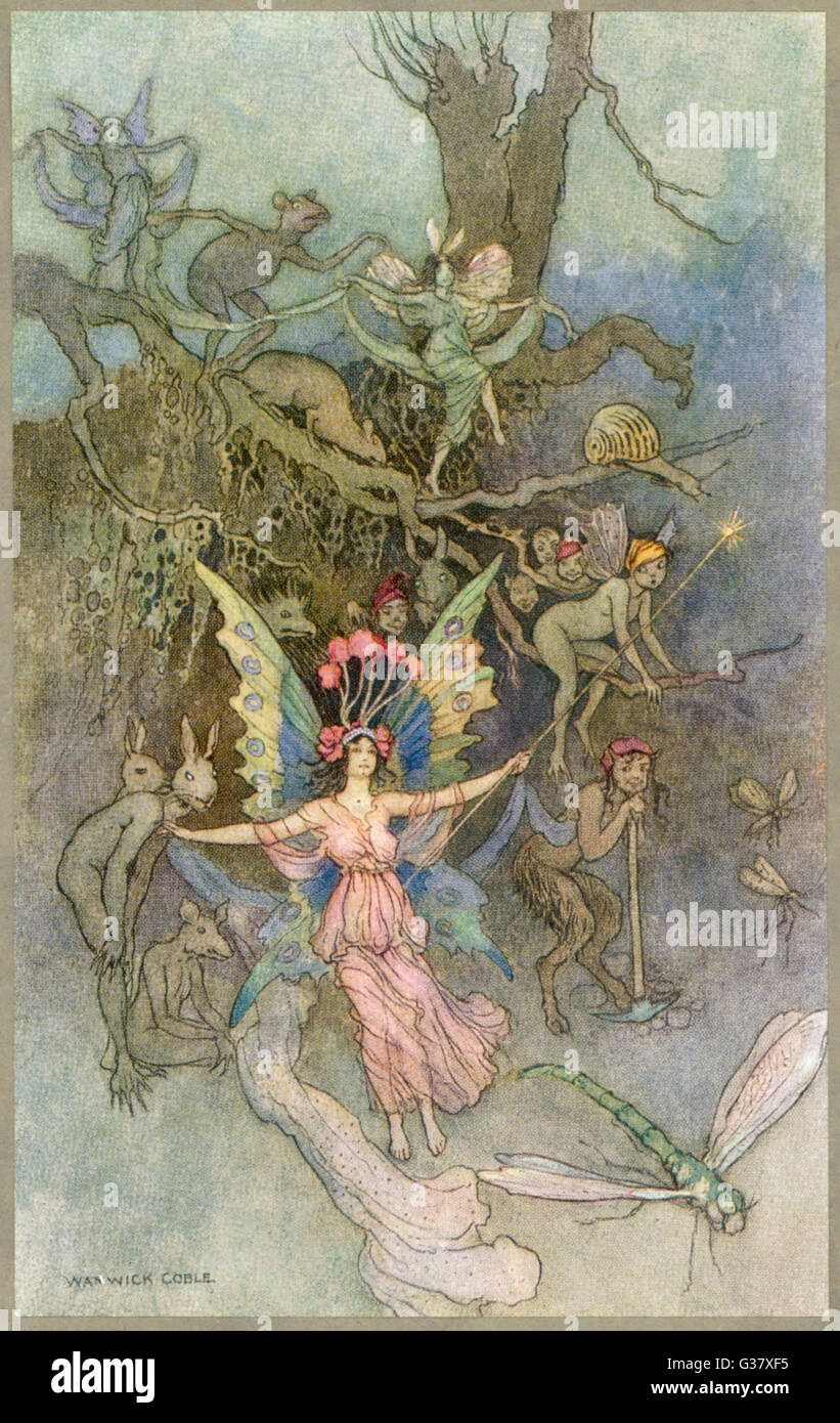 Fairies and other creatures - Stock Image