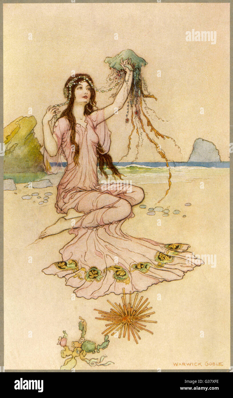 A fairy by the sea. - Stock Image