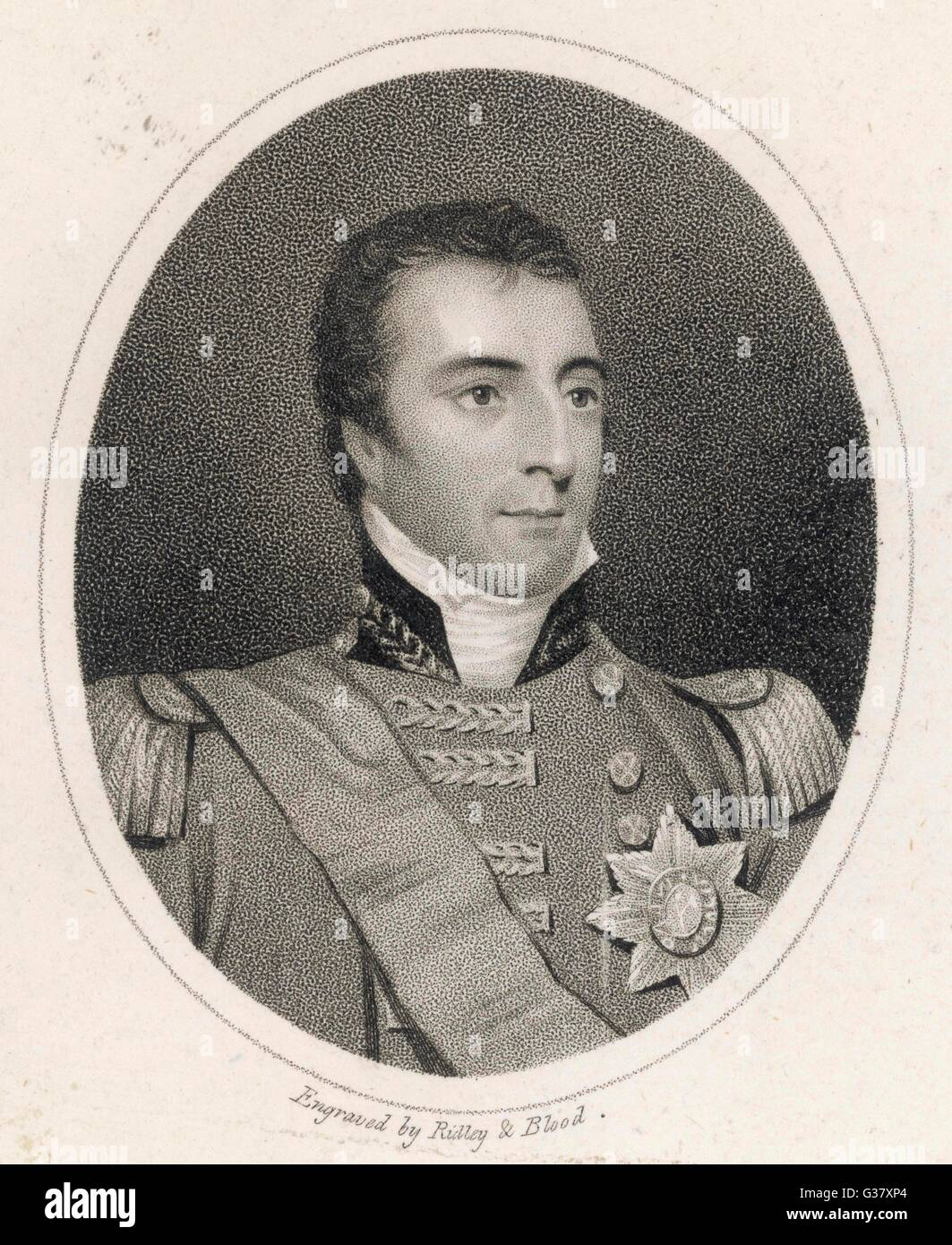 Field Marshall Arthur Wellesley, 1st Duke of Wellington, (1769-1852), British general and statesman, known as the - Stock Image