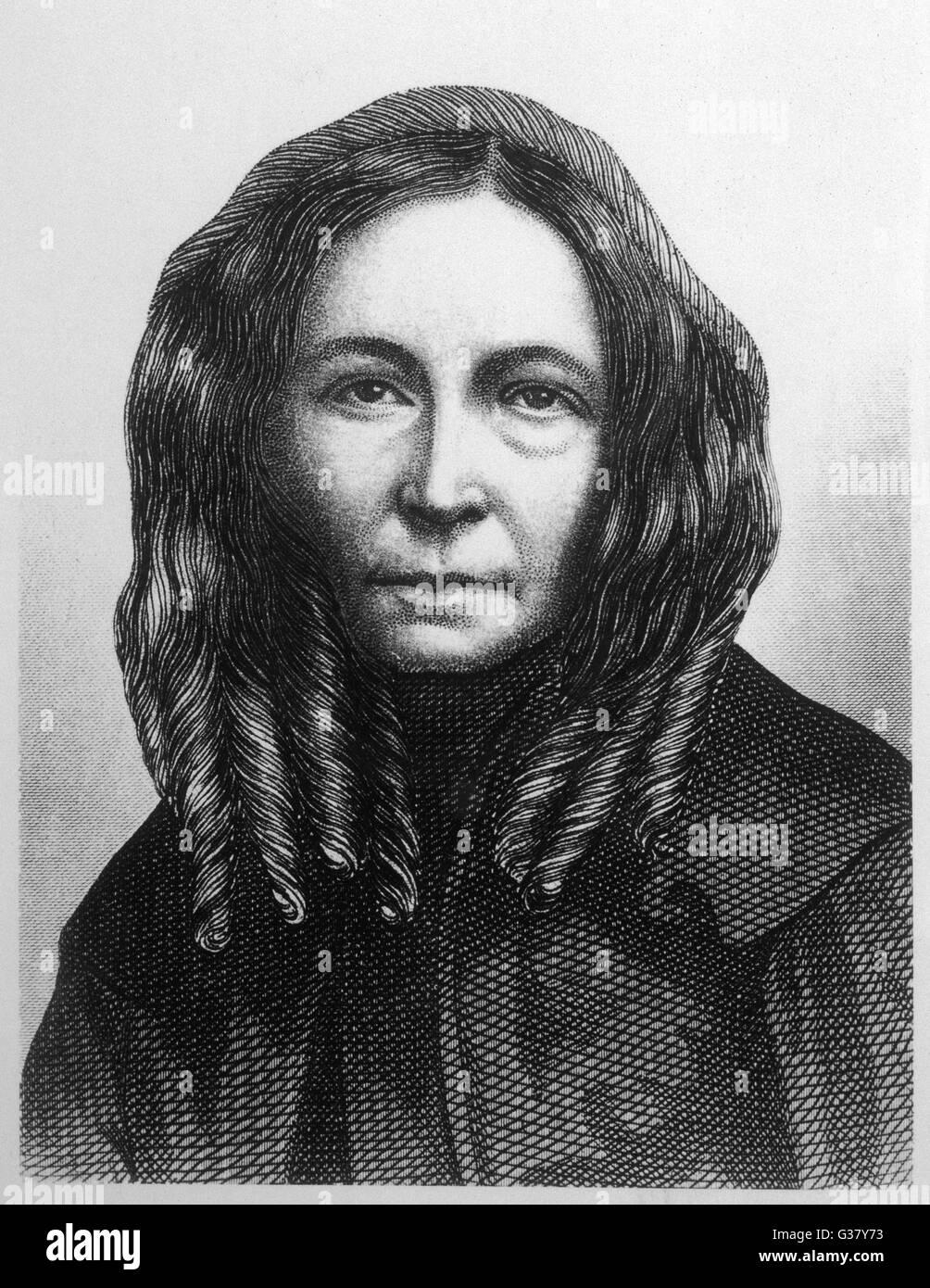 Elizabeth Barrett Browning(1806-1861), Writer. - Stock Image
