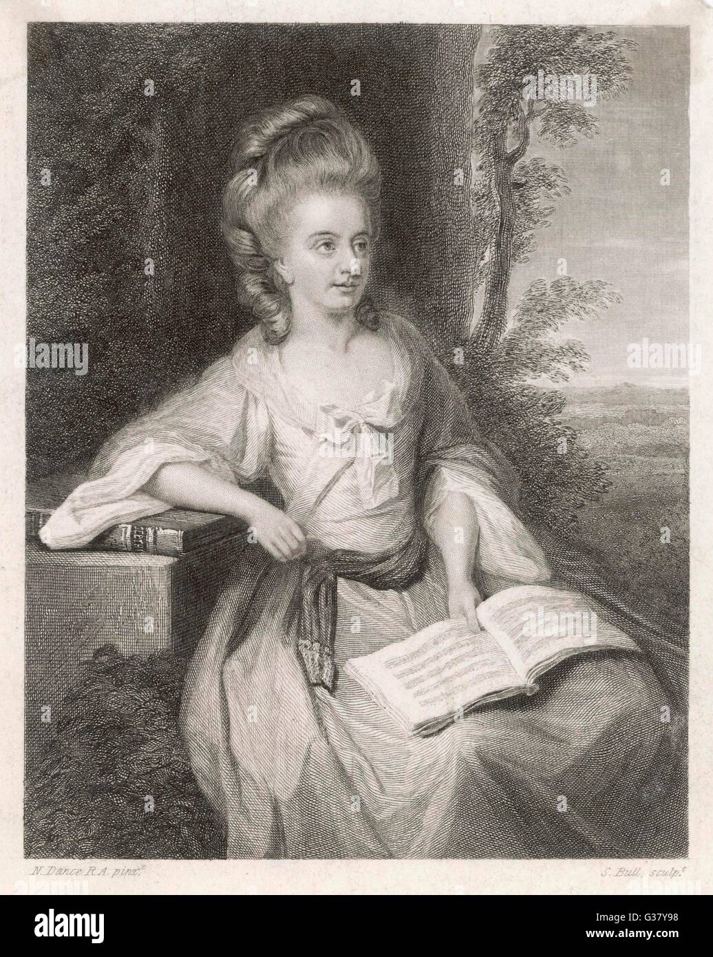 Martha Ray(1742-1779), British singer and mistress of the 4th Earl of  Sandwich. She was murdered by a jealous lover, - Stock Image