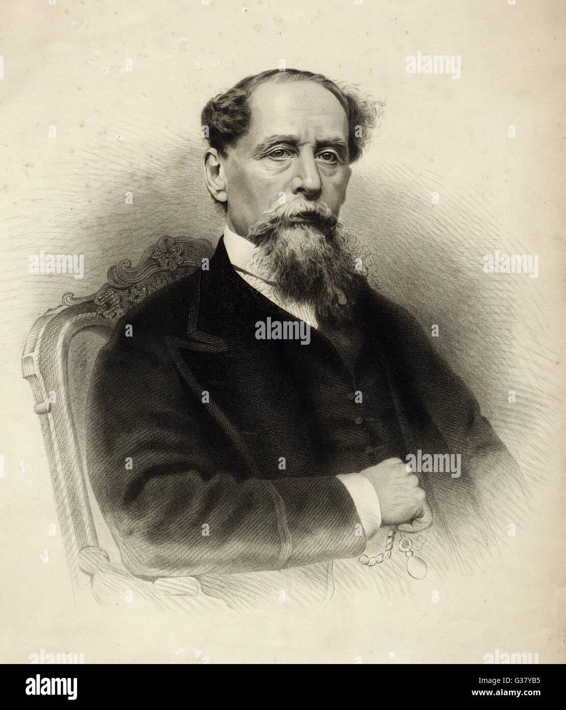 Charles Dickens(1812-1870), English writer. Stock Photo
