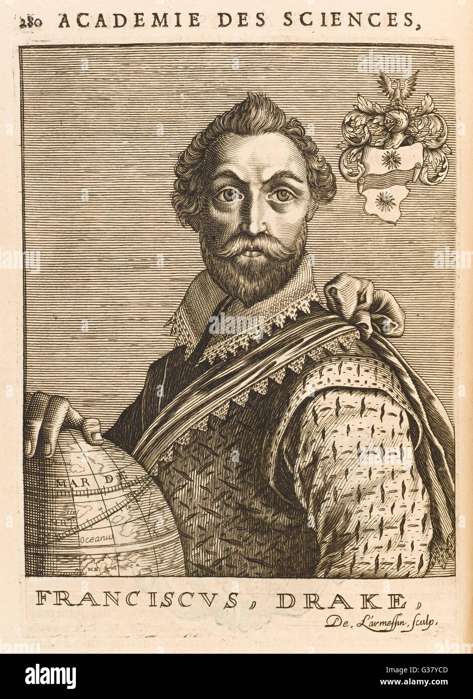 Sir Francis Drake(1545-1596), English Admiral. - Stock Image