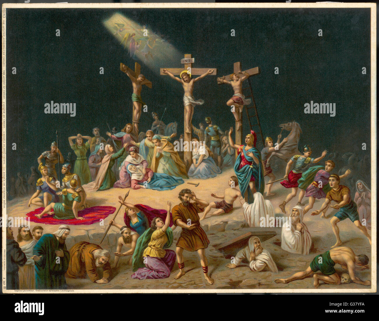 The crucifixion of Jesus enables the resurrection of the dead. - Stock Image