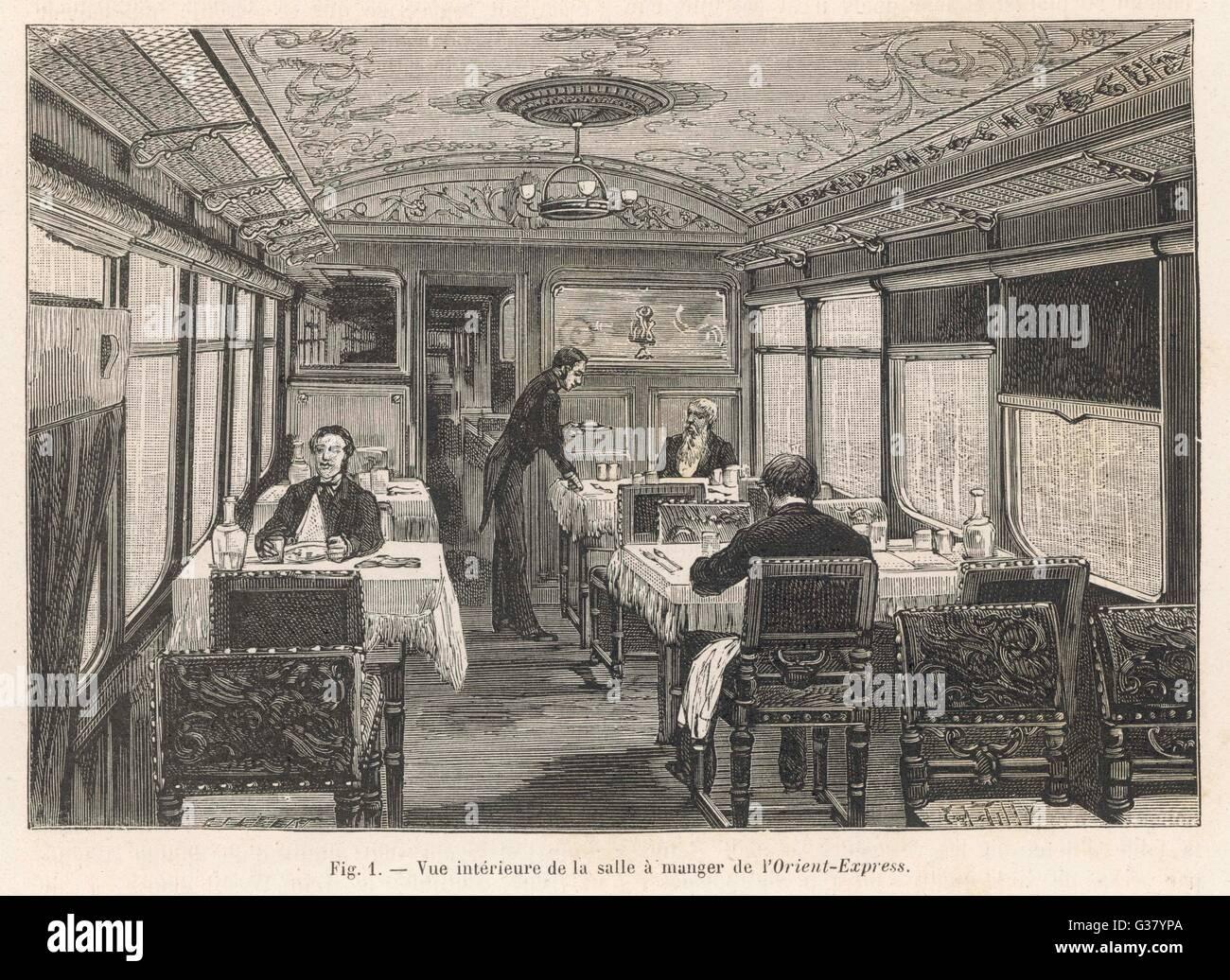 Dining Car Orient Express Stock Photos Dining Car Orient Express