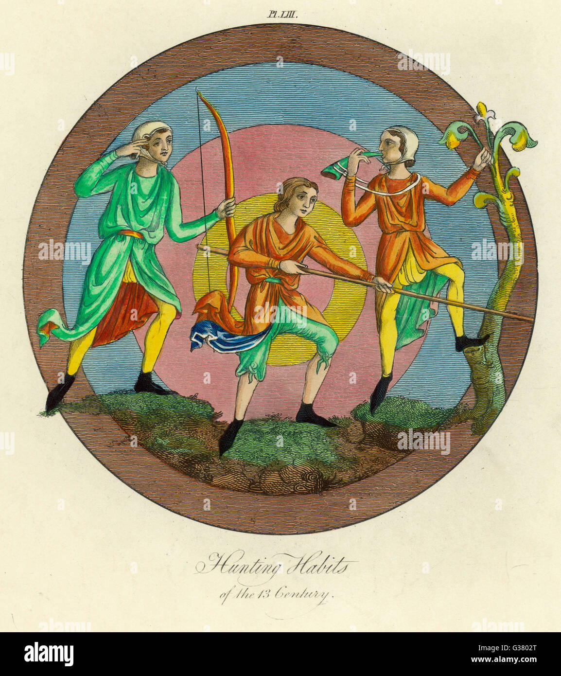 Hunting habits          Date: 13th century - Stock Image