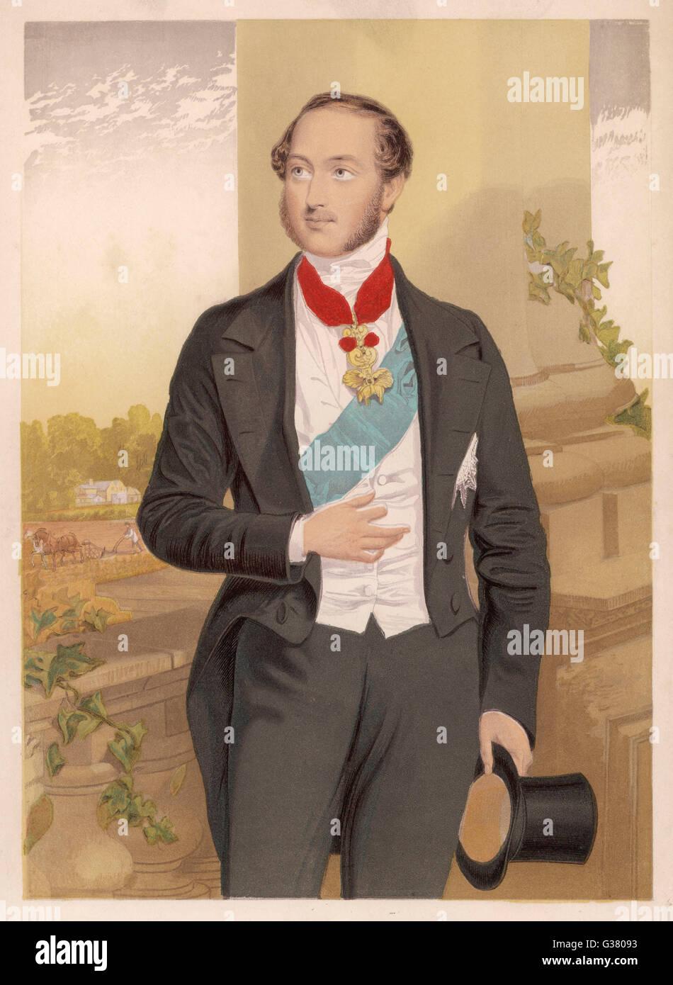 PRINCE ALBERT  Consort of Queen Victoria        Date: 1819-1861 - Stock Image