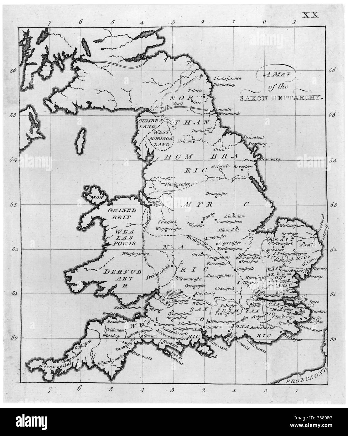 Map Of England 6th Century.Map Of England Stock Photos Map Of England Stock Images Alamy