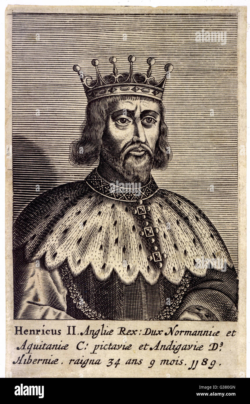 King Henry II - KING OF ENGLAND (1133 - 1189) Reigned 1154 - 1189 Portrait