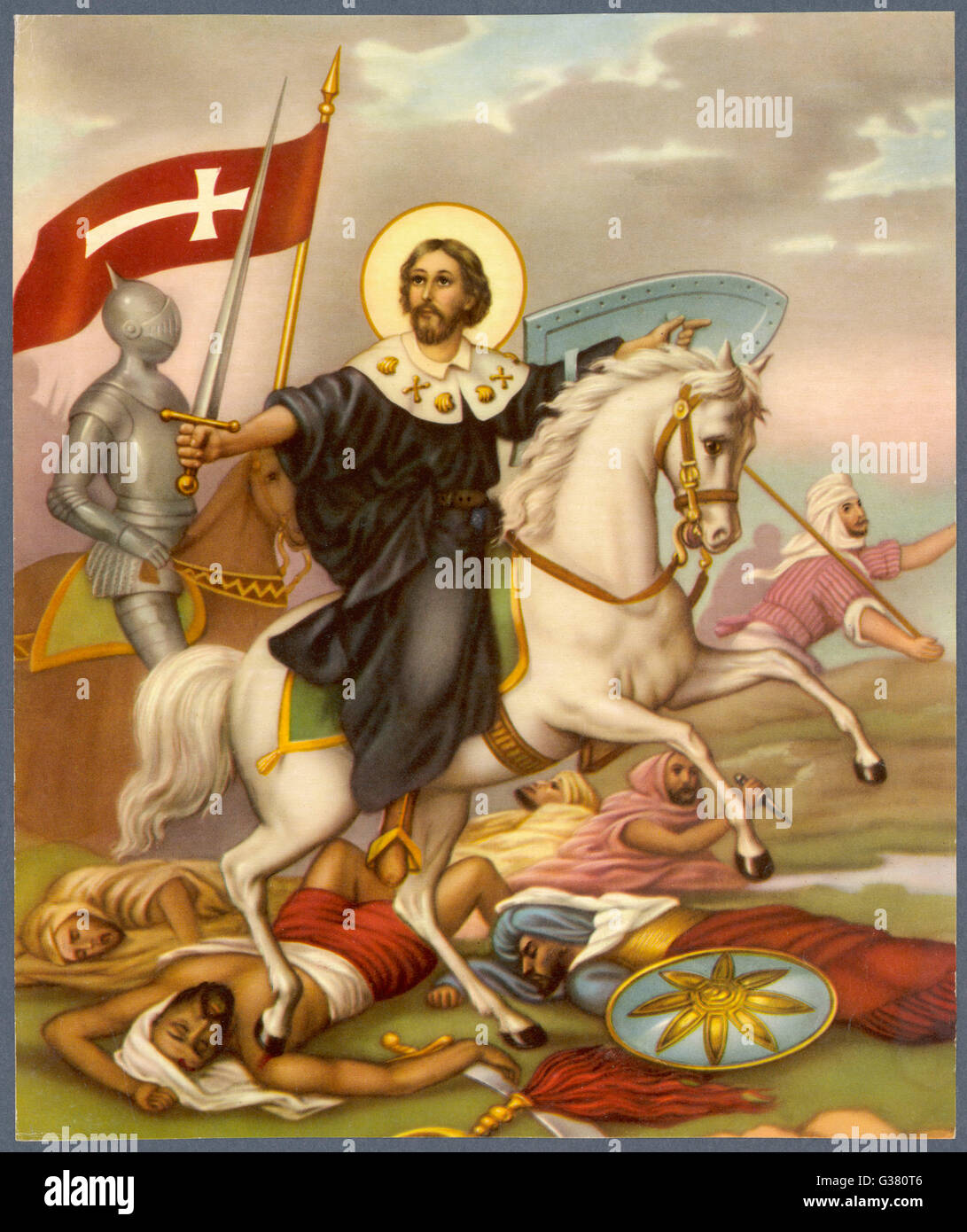 The Crusader depicted as a  Christian hero - Stock Image