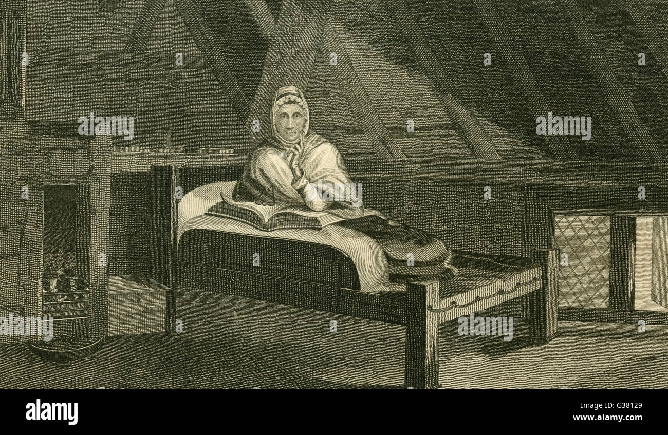 ANN MOORE fasting lady of Tutbury,  Staffordshire, who was  considered genuine when tested  in 1808, but exposed - Stock Image