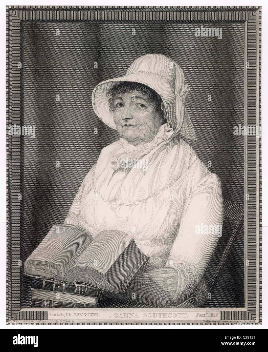 JOANNA SOUTHCOTT prophetess and founder of sect         Date: 1750 - 1814 - Stock Image