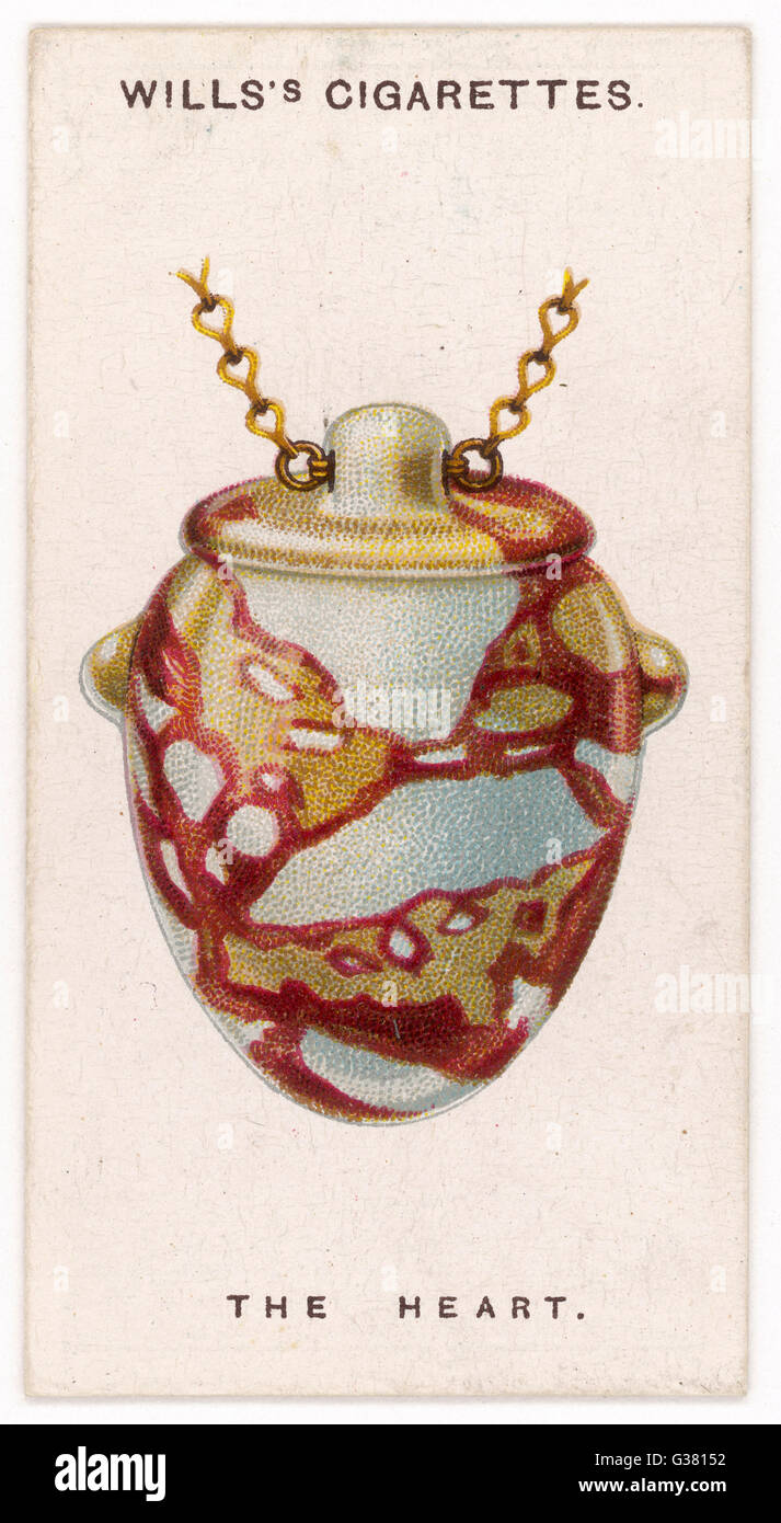 HEART TALISMAN worn by ancient Egyptians to  frustrate sorcerers who might  try to steal their souls       Date: - Stock Image