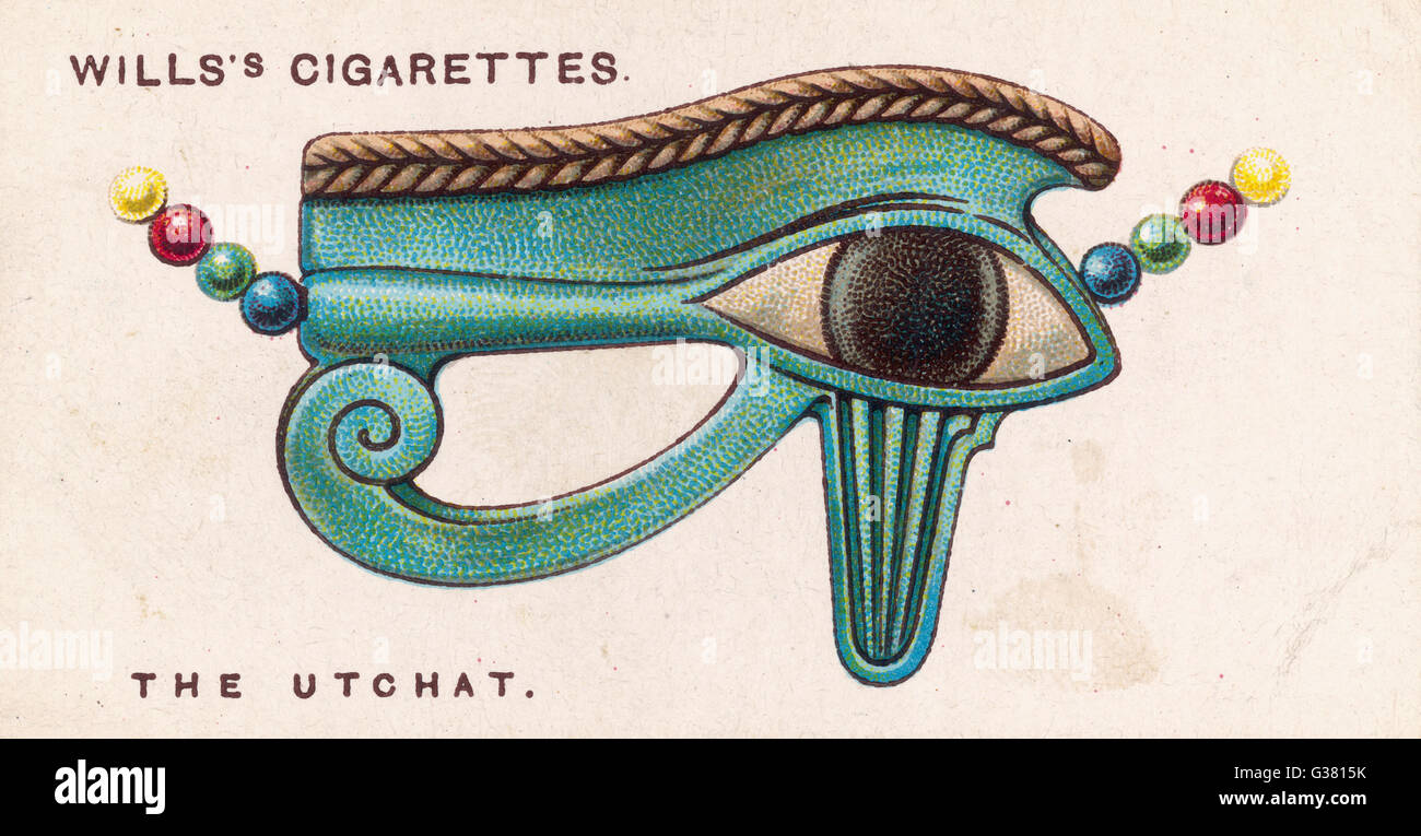 UTCHAT TALISMAN worn by the Ancient Egyptians,  this incorporated the powerful  Eye of Horus       Date: 1923 - Stock Image