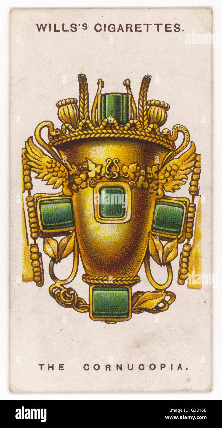CORNUCOPIA AMULET For the Romans the cornucopia  was a symbol of abundance, so  as an amulet it was a promise  of - Stock Image
