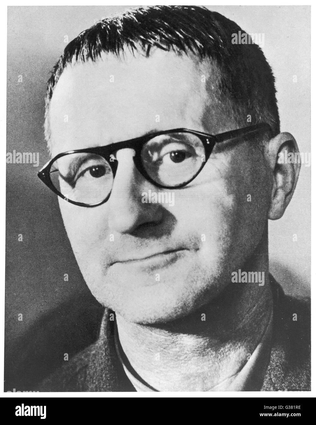 BERTOLT BRECHT  German writer        Date: 1898-1956 Stock Photo