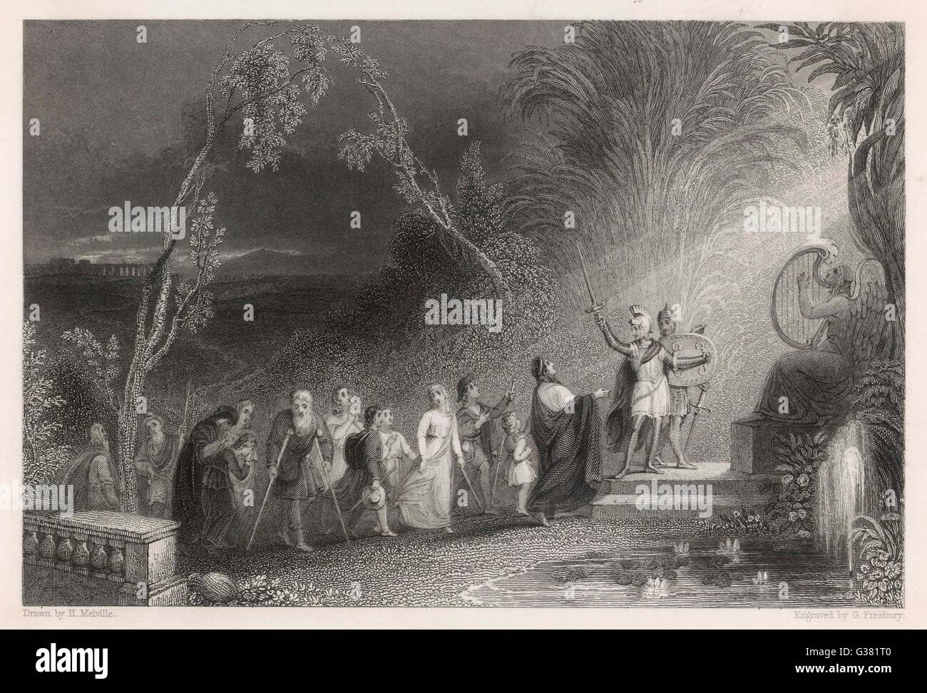 The pilgrims.          Date: First published: 1678 - Stock Image