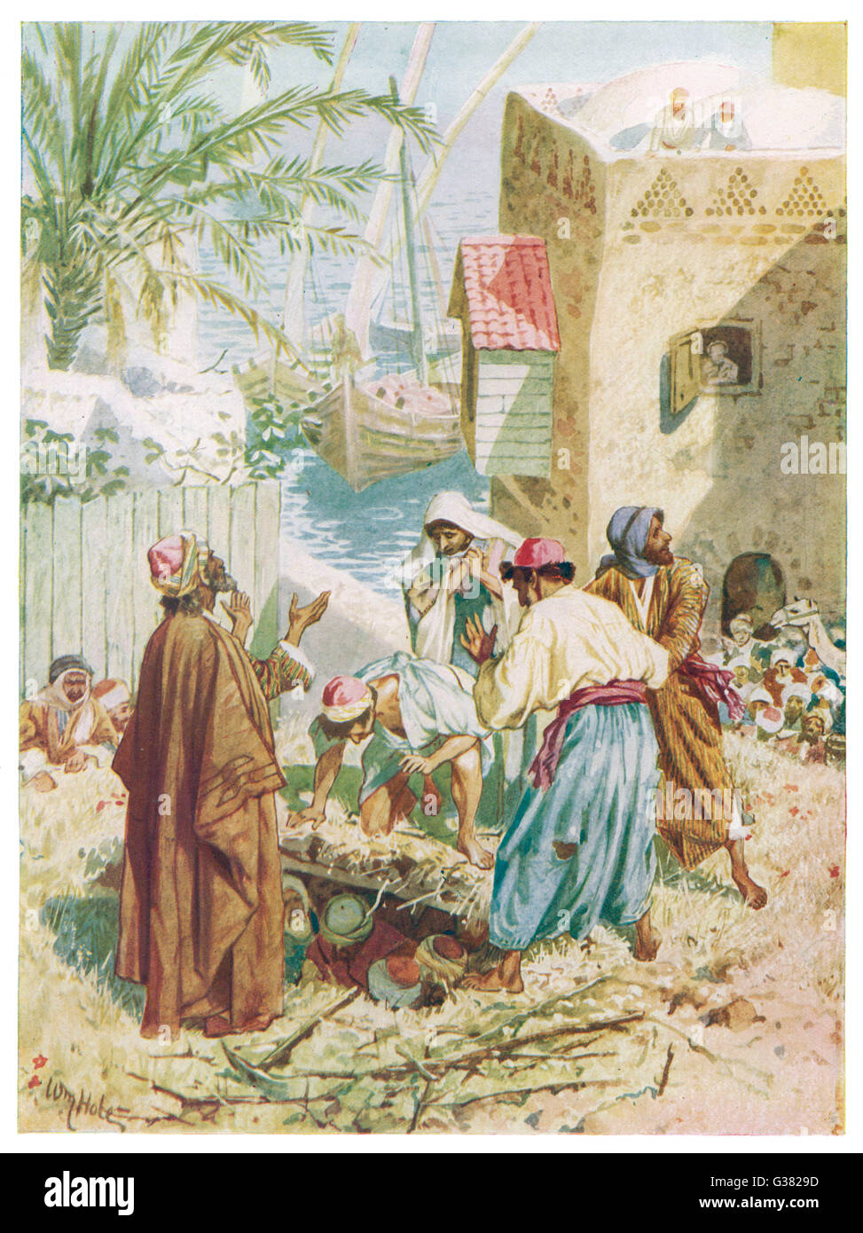 Jesus Heals A Man Who Is Sick Of The Palsy